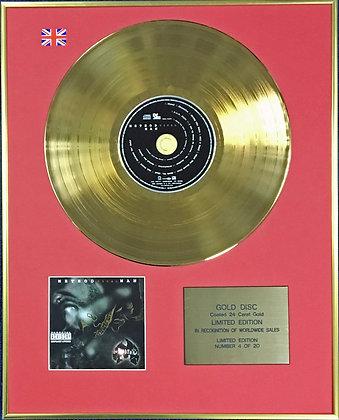 METHOD MAN - Ltd Edition CD 24 Carat Coated Gold Disc - TICAL 2000…