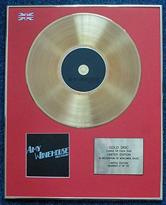 Amy Winehouse - Limited Edition CD 24 Carat Gold Coated LP Disc - Back to Black