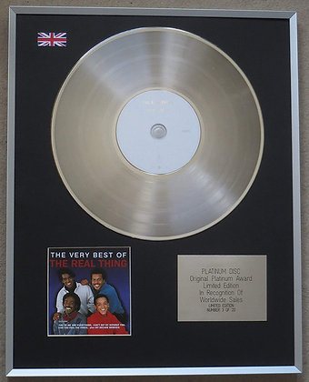 THE REAL THING – Limited Edition CD Platinum Disc – THE VERY BEST OF