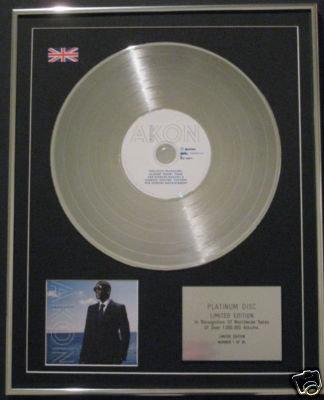 AKON - Ltd Edt CD Platinum Disc- FREEDOM