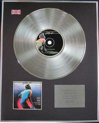 FOOTLOOSE- Limited Edition CD Platinum Disc - ORIGINAL SOUNDTRACK