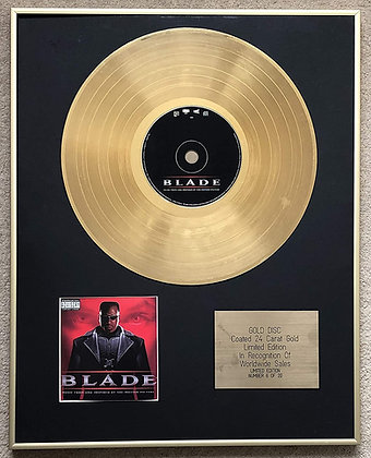 BLADE - Limited Edition CD 24 Carat Gold Coated LP Disc - MUSIC FROM THE MOTION