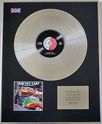 RACING CARS - Limited Edition CD Platinum Disc - DOWNTOWN TONIGHT