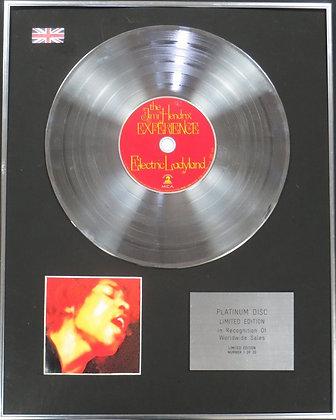 JIMI HENDRIX - Limited Edition CD Platinum Disc - ELECTRIC LADYLAND