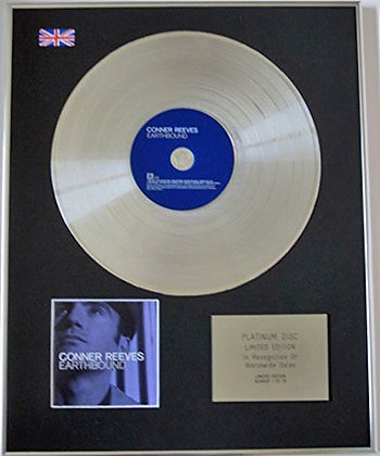 CORNER REEVES - Limited Edition CD Platinum Disc - EARTHBOUND