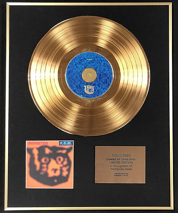 R.E.M - Exclusive Limited Edition 24 Carat Gold Disc - Monster