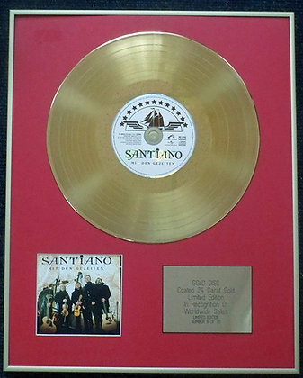 Santiano - Limited Edition CD 24 Carat Gold Coated LP Disc - Mit den Gezeiten