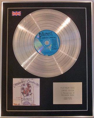 PAVEMENT - Limited Edition CD Platinum Disc - CROOKED RAIN CROOKED RAIN