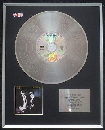 The Blues Brothers - Limited Edition CD Platinum LP Disc - Briefcase Full of Blu