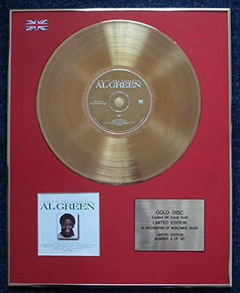 Al Green - Limited Edition CD 24 Carat Gold Coated LP Disc - Al Green Is Love