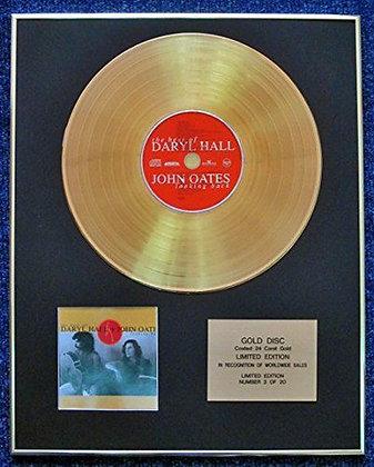 Daryl Hall + John Oates - 24 Carat Gold Coated LP Disc - Looking Back