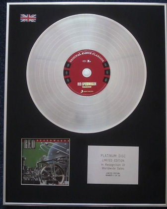 REO SPEEDWAGON - Limited Edition CD Platinum LP Disc -  WHEELS ARE TURNING