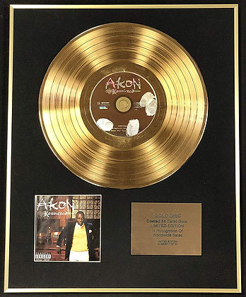 Akon - Exclusive Limited Edition 24 Carat Gold Disc - Konvicted