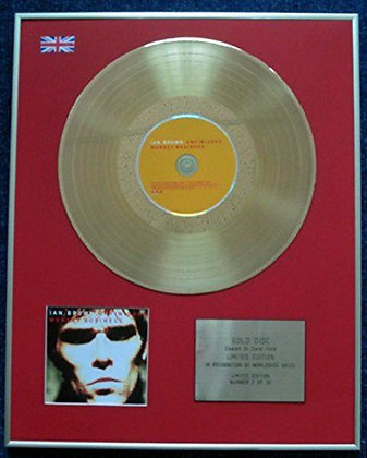 Ian Brown - CD 24 Carat Gold Coated LP Disc - Unfinished Monkey Business