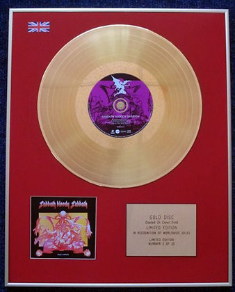 BLACK SABBATH - CD 24 Carat Gold Coated LP Disc - SABBATH BLOODY…