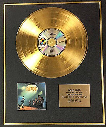 AC/DC - Exclusive Limited Edition 24 Carat Gold Disc - Let There Be Rock