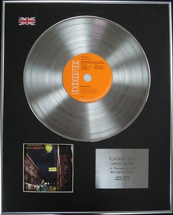 DAVID BOWIE - Limited Edition CD Platinum Disc - ZIGGY STARDUST