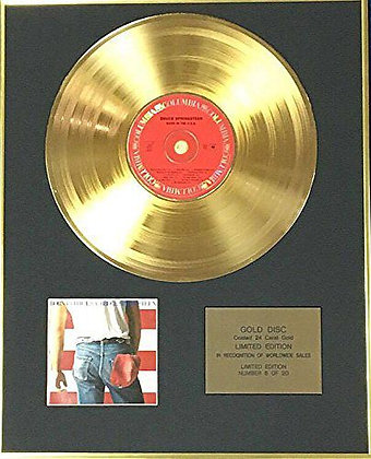 Bruce Springsteen - Exclusive Limited Edition 24 Carat Gold Disc - Born In USA