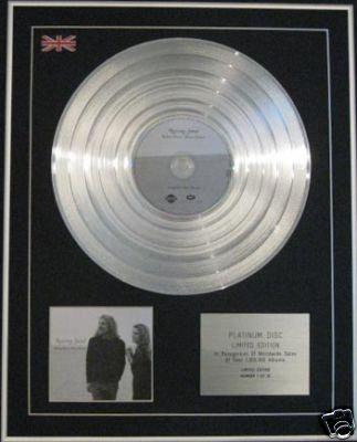 ROBERT PLANT/ALISON KRAUSS-CD PlatinumDisc-RAISING SAND