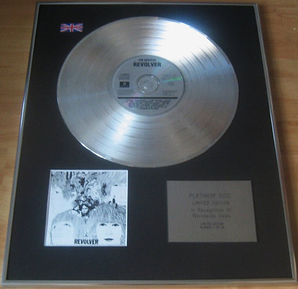 THE BEATLES - Limited Edition CD Platinum Disc - REVOLVER