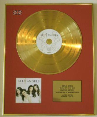 ALL ANGELS - Ltd Edtn CD Gold Disc