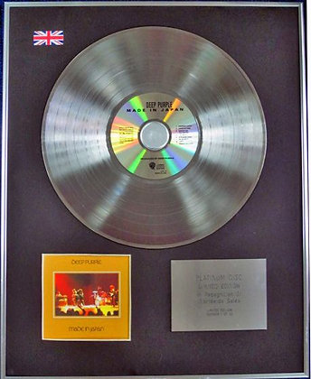 DEEP PURPLE - Limited Edition CD Platinum Disc - MADE IN JAPAN