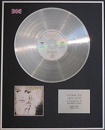 EURYTHMICS - Limited Edition CD Platinum Disc - SAVAGE