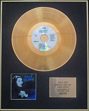 Billie Holiday - Exclusive Limited Edition 24 Carat Gold Disc - The Legend of