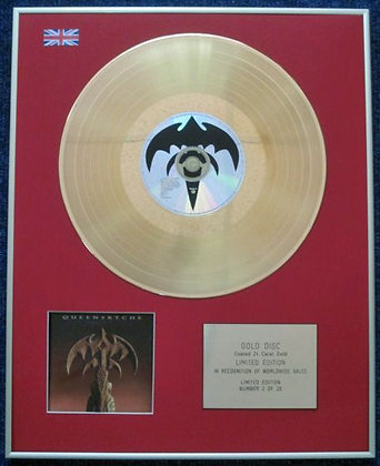 QUEENSRYCHE - Limited Edition CD 24 Carat Gold Coated LP Disc - PROMISED LAND