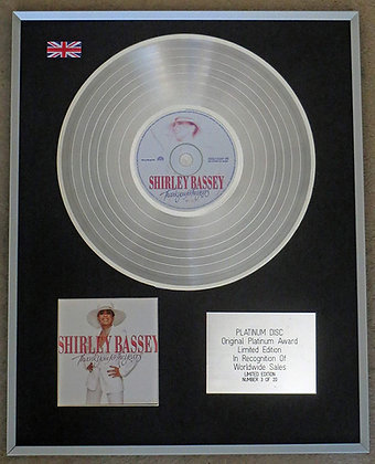 SHIRLEY BASSEY - Limited Edition CD Platinum Disc - THANKS FOR THE YEARS