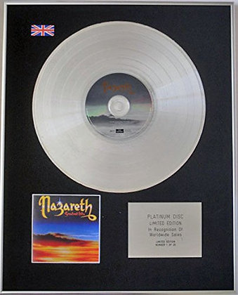 NAZARETH - Ltd Edition CD Platinum Disc - GREATEST HITS