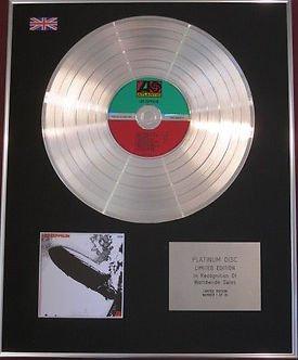LED ZEPPELIN - CD Platinum Disc - LED ZEPPELIN