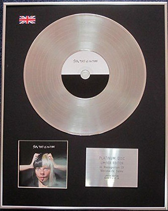 Sia - Limited Edition CD Platinum LP Disc - This Is Acting