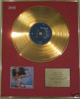BEYONCE - Ltd Edtn CD Gold Disc- DANGEROUSLY IN LOVE