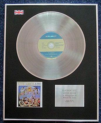 Keith Jarrett - Limited Edition CD Platinum LP Disc - El Juicio (The Judgement)
