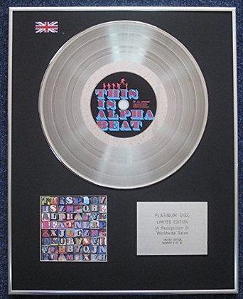 Alphabeat - Limited Edition CD Platinum LP Disc - This Is Alphabeat