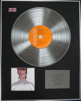 DAVID BOWIE - Limited Edition CD Platinum Disc - ALADDIN SANE