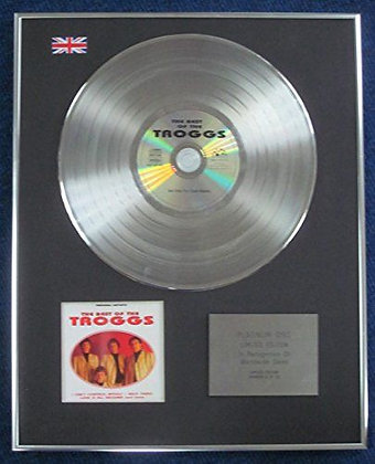 The Troggs - Limited Edition CD Platinum LP Disc - The best of