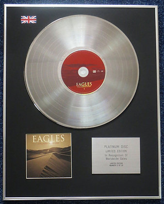 Eagles - Limited Edition CD Platinum LP Disc -Long Road Out of Eden