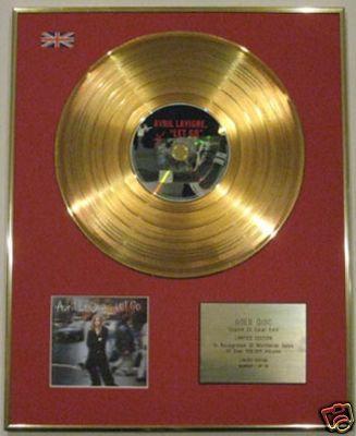 AVRIL LAVIGNE - Limited Edition 24 Carat Gold Disc CD - LET GO