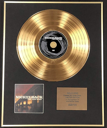 Nickelback - Exclusive Limited Edition 24 Carat Gold Disc - The Long Road