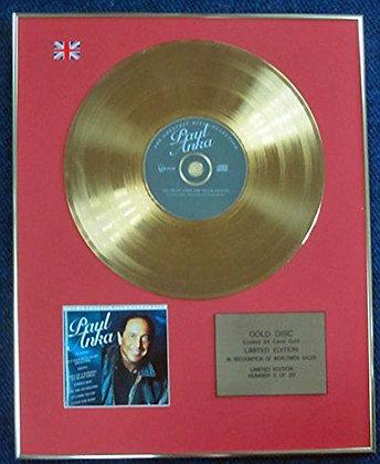 Paul Anka - LTD Edition CD 24 Carat Gold Coated LP Disc - Greatest hits