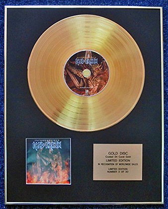Iced Earth - Limited Edition CD 24 Carat Gold Coated LP Disc - Incorruptible