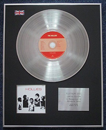 Hollies - Limited Edition CD Platinum LP Disc - Hollies
