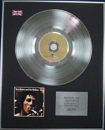 BOB MARLEY - Limited Edition CD Platinum Disc - CATCH A FIRE