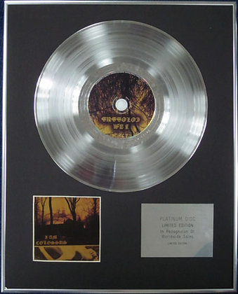 I AM COLOSSUS - Limited Edition CD Platinum Disc