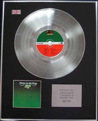 YES - Limited Edition CD Platinum Disc - CLOSE TO THE EDGE