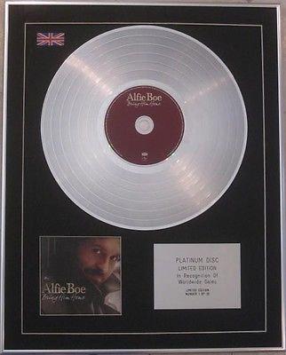 ALFIE BOE -  Limited Edition CD  Platinum Disc  - BRING HIM HOME