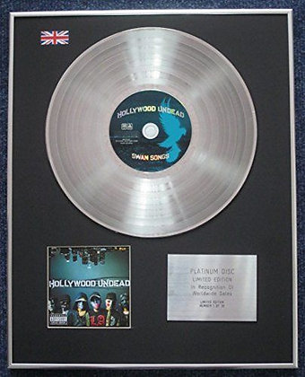 Hollywood Undead - Limited Edition CD Platinum LP Disc - Swan Songs
