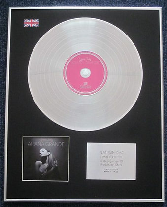 Ariana Grande - Limited Edition CD Platinum LP Disc - Yours Truly